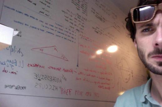 Ben's tileboard whiteboard.