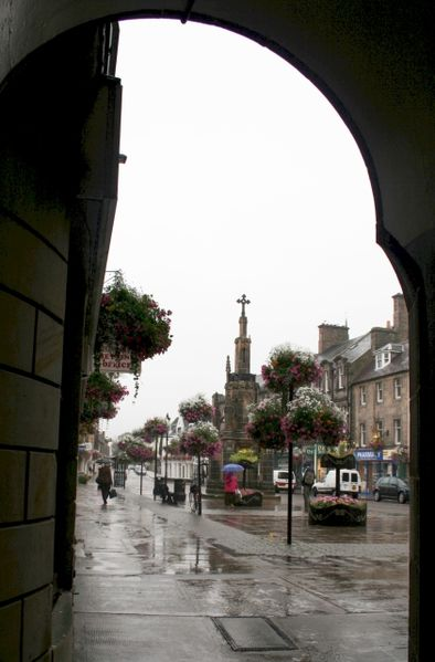 Forres in the Higlands of Scotland. The place where King Macbeth met the three sister witches.