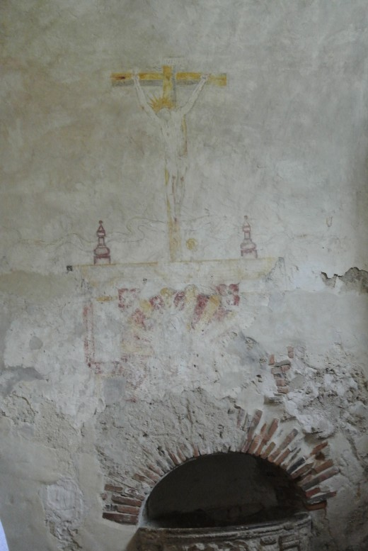 Original fresco work in Mission Concepcion