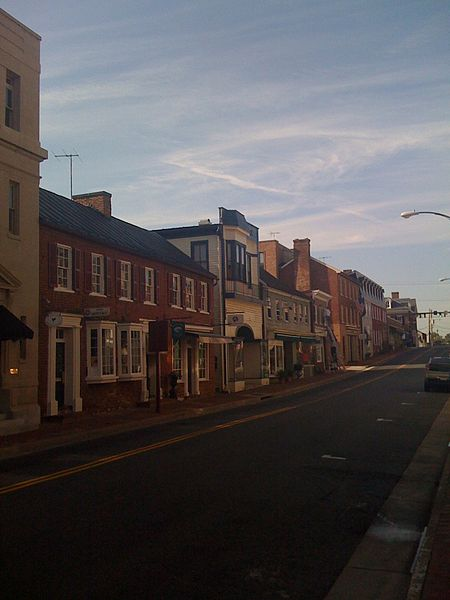 Downtown Leesburg, Virginia - a suburb of Washington DC.