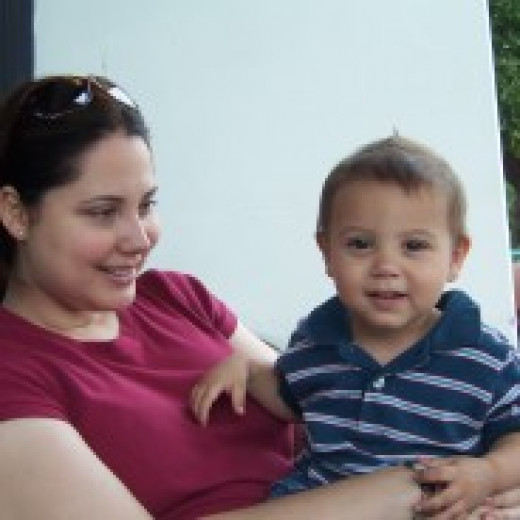 My son and I when he was a baby. I was on high doses of Prednisone.