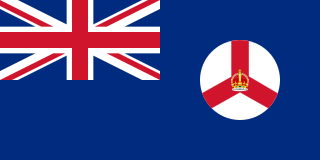 Flag of the Crown Colony of Singapore from 1946 to 1959