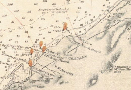 how location of sinking of Empresss of Ireland