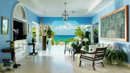 Many Caribbean hotels have open-air lobbies  -- and are not air conditioned.