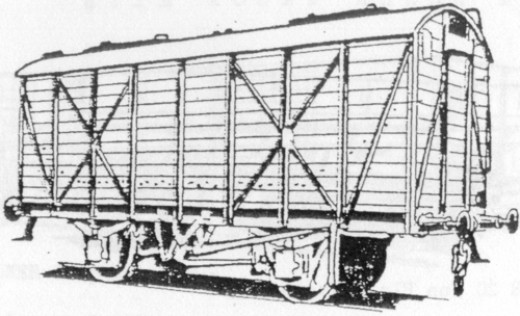 This is the LNER 22 ton capacity wooden bodied grain hopper that Parkside Dundas based their kit on. Easily assembled, I have several in BR light grey livery with black numbering patches. Many were based at Hull Silo .