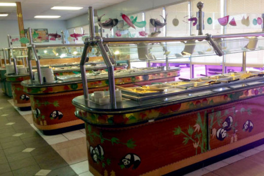 The buffet of China Buffet at 5202 East Thompson Road