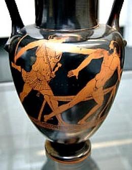 Theseus slaying Procrustes
