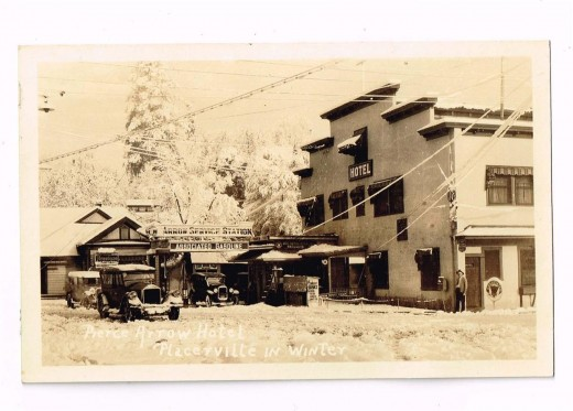 Pierce Arrow Hotel, Placerville, Ca, US, 1920, sold on Ebay for $.425.77