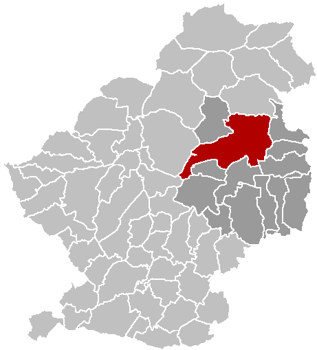 Map location of Marchiennes, Douai arrondissement, Nord department