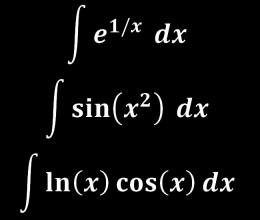 These integrals cannot be expressed in terms of elementary functions.