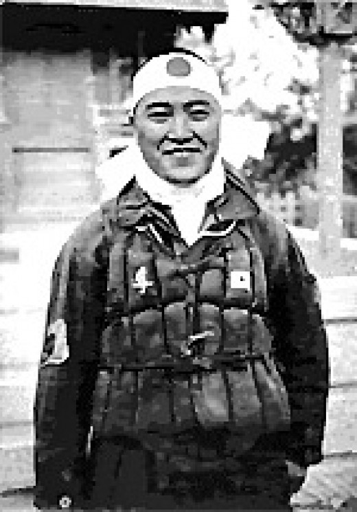 Ensign Kiyoshi Ogawa, who flew his aircraft into the USS Bunker Hill during a Kamikaze mission on 11 May 1945.