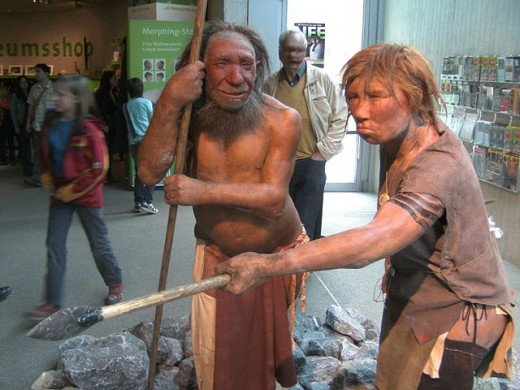 Neanderthal Man and Woman Reconstruction