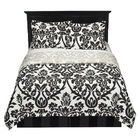 Zeus Black and White Bedding is available in King or Queen size