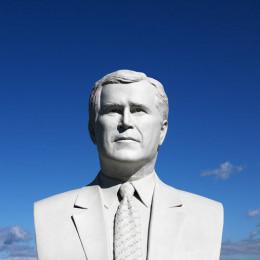 George W. Bush displayed in the Black Hills of South Dakota