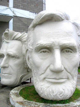 Abraham Lincoln president head created by David Adickes of Huntsville, Texas