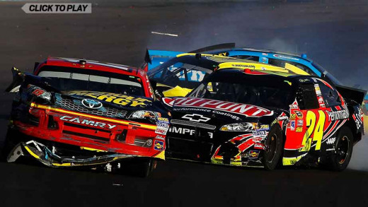 Gordon took Bowyer out of last year's Chase. Was  Richmond a case of karma for the four time champion?