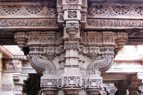 An Intricately Carved Pillar