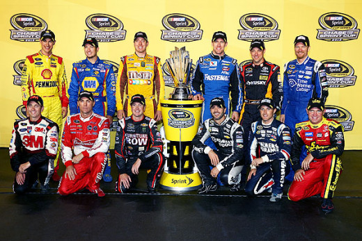 The 2013 Chase for the Sprint Cup field, as of Richmond