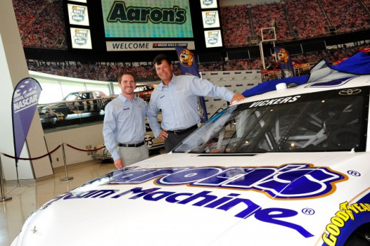 Aaron's is another long-term sponsor. Their sponsorship makes a race team possible