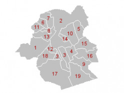 Map of Brussels Capital Region municipalities