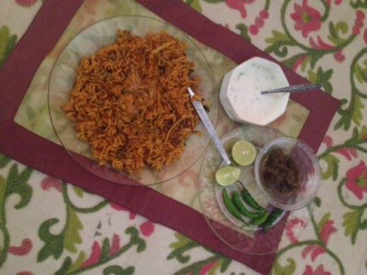 Quick Chicken hyderabadi biryani, made at home.