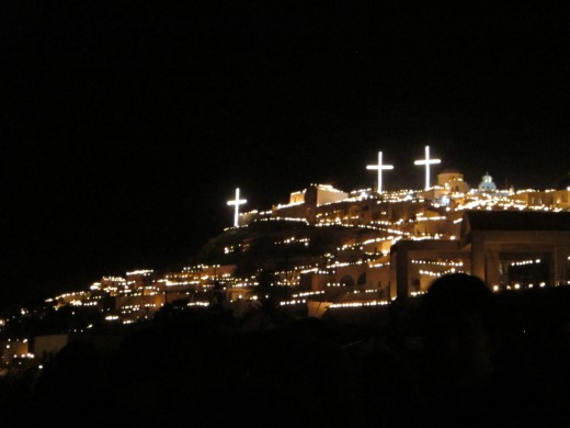 The village of Pyrgos in Santorini celebrates Orthodox Easter in a very beautiful atmosphere. In the evening of Good Friday, the entire village of Pyrgos illuminates by flaming cans that are creating a unique atmosphere. If you plan your v