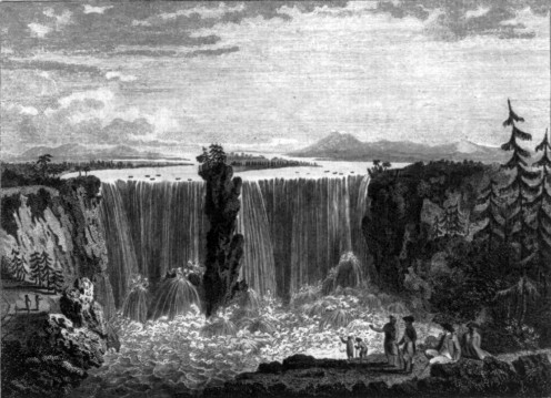 """""""The Falls of Niagara"""", 1783, engraving by Heath after drawing by Metz"""