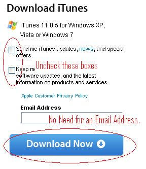Email is option. You can just download without entering it.