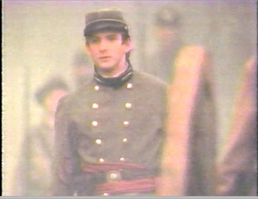 At the film's climax, Shelby finds himself behind Confederate guns at the battle of Bull Run.