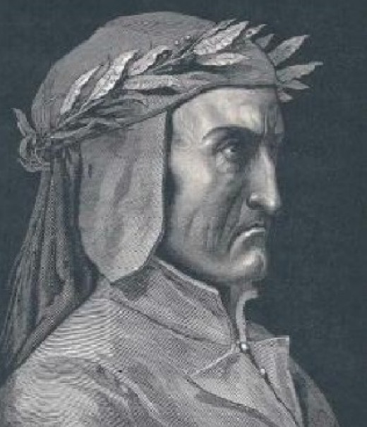 In this portrait Dante seems to be a rather grim fellow, for a comedian