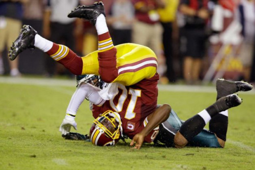 RG3 had a tough time against the Eagles D