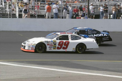 Burton ran his final season at Roush unsponsored, while his teammates did not share that problem