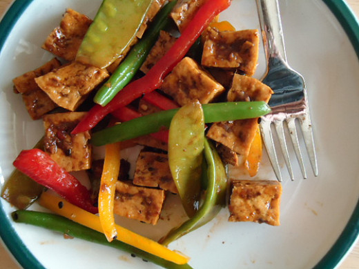 Choose plant-based proteins such as tofu and eat it in a healthy salad.
