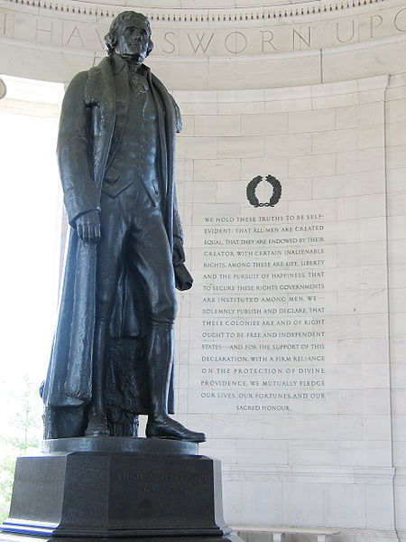 Jefferson Memorial with Preamble to the Declaration of Independence Washington D.C.