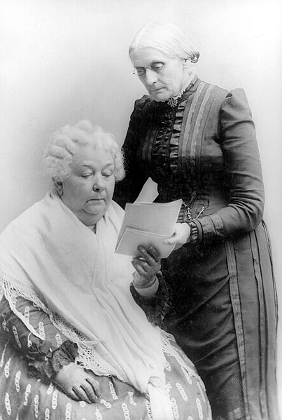 Elizabeth Cady Stanton (seated) with Susan B. Anthony 1900