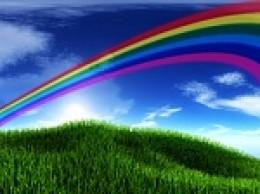 Rainbow over the meadow