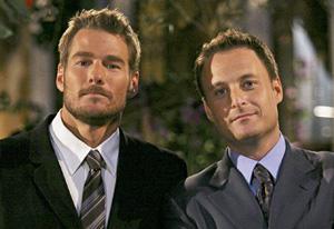 Brad Womack and Chris Harrison on the Bachelor
