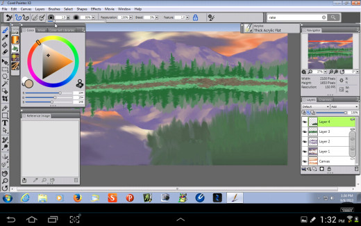Adding the Grass in the Foreground.