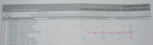 A sample portion from LeaderCalc