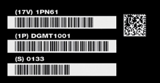 UID Plate With Barcodes