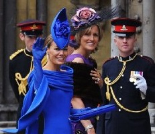 British socialite Tara Parker- Tomkinson arrives at Westminster Abbey for the wedding of Prince William and Kate Middleton.