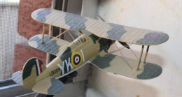 Model of the 1940 Gloster Gladiator from a different angle.