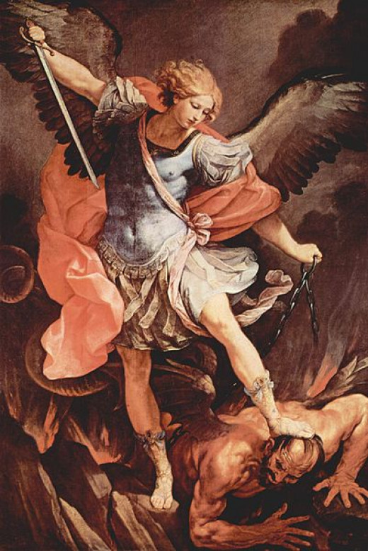 Archangel Michael Binding Satan