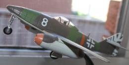 Model of a German World War Two jet Fighter.