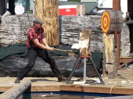 Great Alskan lumberjack show