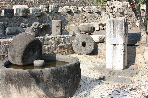 Roman Olive Press in Capernaum, Israel