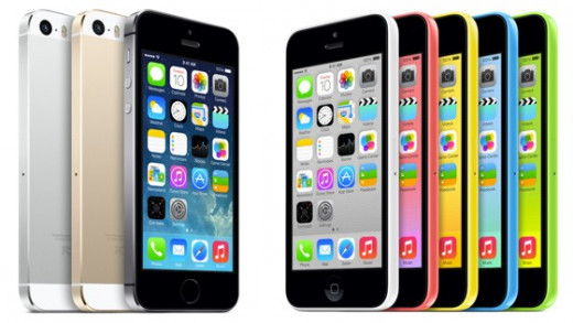 iPhone 5S comes in Black, White and Gold and iPhone 5C comes in a range of colors.