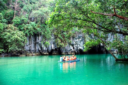 entrance to the cave is navigable by boat only