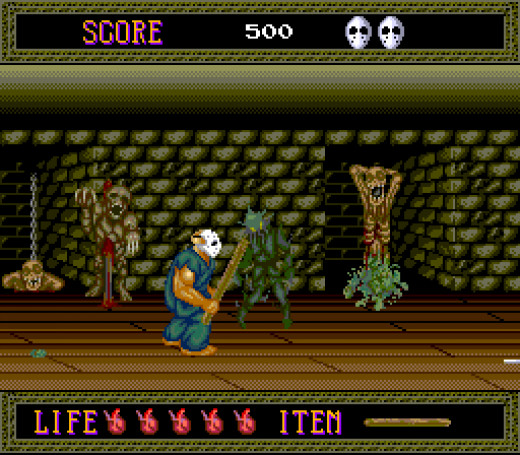 Note the gory setting in Splatterhouse