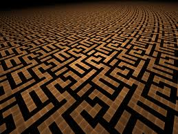 Greek key design labyrinth.